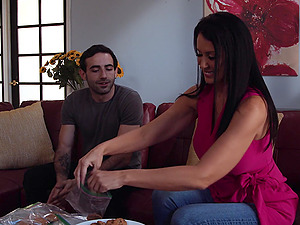 Reagan Foxx fantasies about having passionate sex with her neighbor