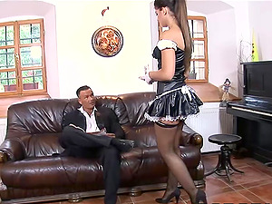 The maid slut want a cock in her ass, she like hard anal sex