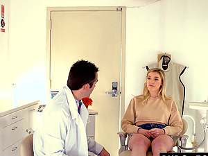 Beautiful blonde Anny Aurora needed to visit a dentist, so she made an appointment