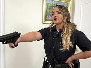 Two massive black dicks for blonde slut Cali Carter that loves anal