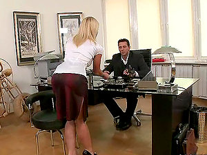 Hot Blonde Ofiice Cockslut Gets Fucked In The Asshole & Jism In Her Mouth