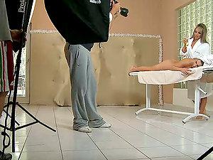Backstage Footage Of Hot Damsel On Lady Movie