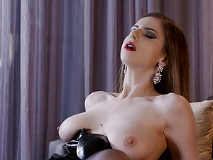 Balls deep anal drilling as a gift for a blindfolded boyfriend