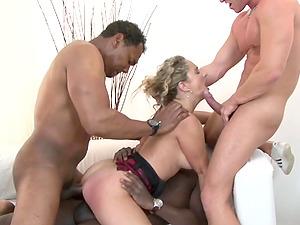 Amelie Matis Wild Interracial Gangbang
