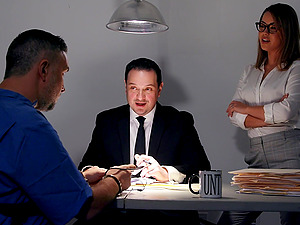 Hardcore fucking in the office with a stranger and Alina Lopez