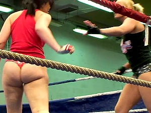 Chicks Fight Naked In A Ring & Do A Little More Than That