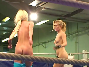 Catfight with Two Hot Pussy-licking Blondes