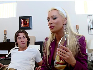 Get ready for a must-see hardcore MILF-young stud action packed with cock