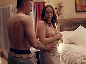 Wife Whitney Wright drops her dress to be fucked by her lover