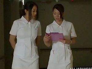 Amazing FFFM 4 way in the Hospital with Japanese Nurses