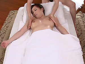 Oiled Up Asian Mummy Gets Massaged and Fucked Hard and Deep