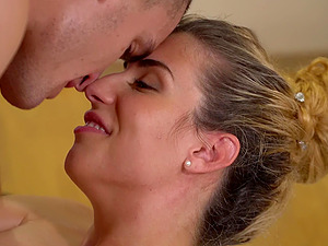 Dude with a long cock gives a massage to his babe and fucks her deep