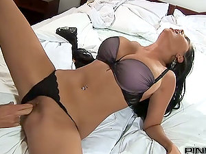 Jasmine Black gets her beaver eaten and fucked from behind