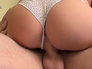 Blondie Teenage Shaft Sucker Frederica Hill Fucked with Her Underpants On