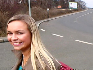 Gorgeous Czech Blonde Unexperienced Ex Model Takes Dick In Public