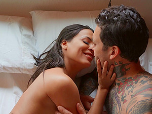 Smooth group sex with swinger wives Abigail Mac and Luna Star