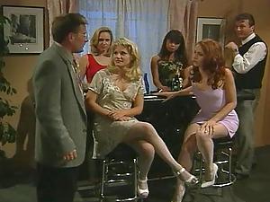 Amazing retro FFM threesome with Chloe and Toni James. HD video