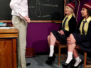 Video of naughty college girls Kristy Travis and Louse Moon