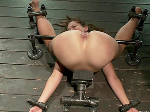 Tastey hookup marionette is trapped in the device and fucked by it