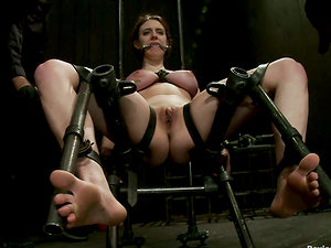 Iona Grace Gets Clothespin Torment and Toyed in Restrain bondage Movie