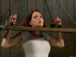 Lilla Kat Hot Brown-haired Getting Toyed while Bounded in Bondage & discipline Vid