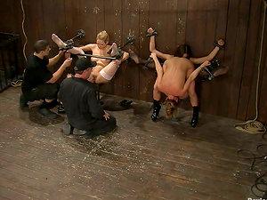 Amber Rayne and Ariel X Rectal Toyed in Female dom Restrain bondage Bondage & discipline Flick