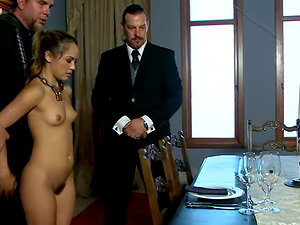 Kristina Rose gets her cootchie pawed with a plaything in Domination & submission movie
