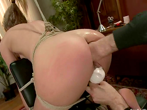 Blonde chick with clothespinned vagina gets fucked and fisted