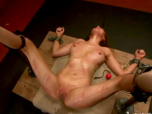 Superb damsel gets whipped and then fucked rough