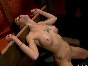 Tricia Oaks gets fucked hard and loves jizz on her tongue in Bondage & discipline scene