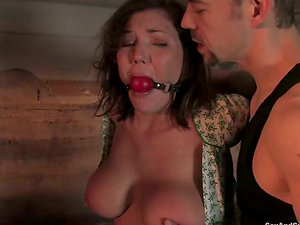 Claire Dames gets her butt fucked hard from behind in Domination & submission scene