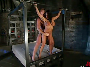 Round Boobed Jenaveve Jolie Deep throats Dick and Gets Fucked in Domination & submission Flick