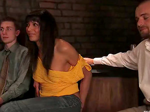 Kyle gets fucked by hot tranny Yasmin Lee in the presence of a hidden cam