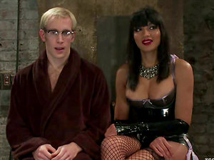 Ned Mayhem get fucked by hot tranny Yasmin Lee in Domination & submission clip