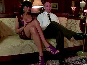 Patrick Rouge lets hot tranny Yasmin Lee rip his culo apart