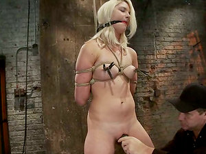 Hot Frolicking Session for Tied Up Blonde Natasha Lyn in Domination & submission vid