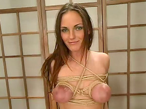 Incredible restrain bondage technology for a big-chested honey Venus