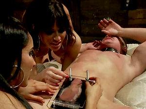 Gia Dimarco and Isis Love Predominate and Strapon Fuck Dude in Restrain bondage Flick