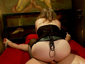 Bounded Man Getting Crazily Spanked before Pegging by Mistress T