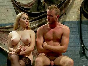 Pegging in Restrain bondage Session by Crazy Aiden STarr in Female dom Vid