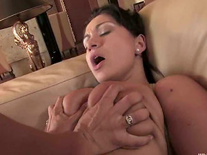 Sexy Lea Lexis ties up Sandra Romain and playthings her cunt