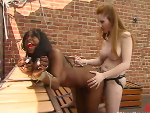 Interracial female dominance with Natali Demore and Stacey Cash