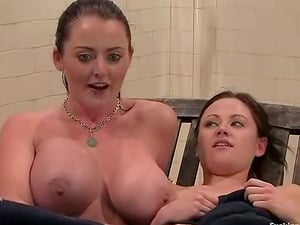 Two huge-titted and slender chicks Sindee Jennings and Sophie Dee are in passion