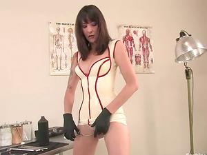 Horny Lexi Bardot Getting Fucked by Machine in Nurse Attire
