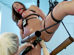 Ariel X Getting Toyed in Lezzie Restrain bondage Female dominance by Lorelei Lee