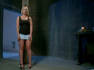 Mellanie Monroe gets tormented by hot domme Princess Donna Dolore
