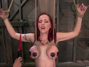 Mz Berlin gets tantalized and fucked with a fake penis to orgasm