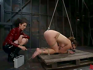 Princess Donna Dolore ties some cutie and torments her hard