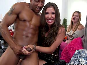 Kinky Women Sucking Lots of Dick in Interracial CFNM Bacherloette Soiree