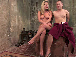 Restrain bondage and Face Sitting in Sadism & masochism Female dominance Vid by Blonde Honey